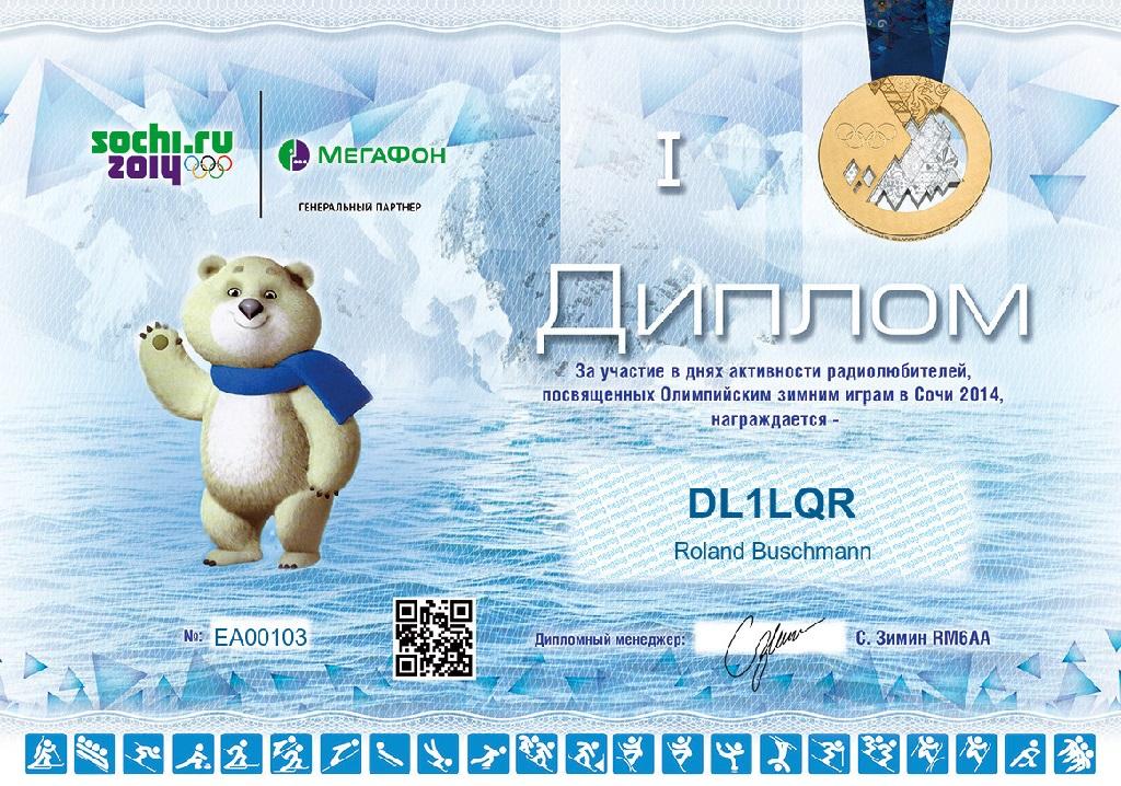 Sochi 2014 DL1LQR