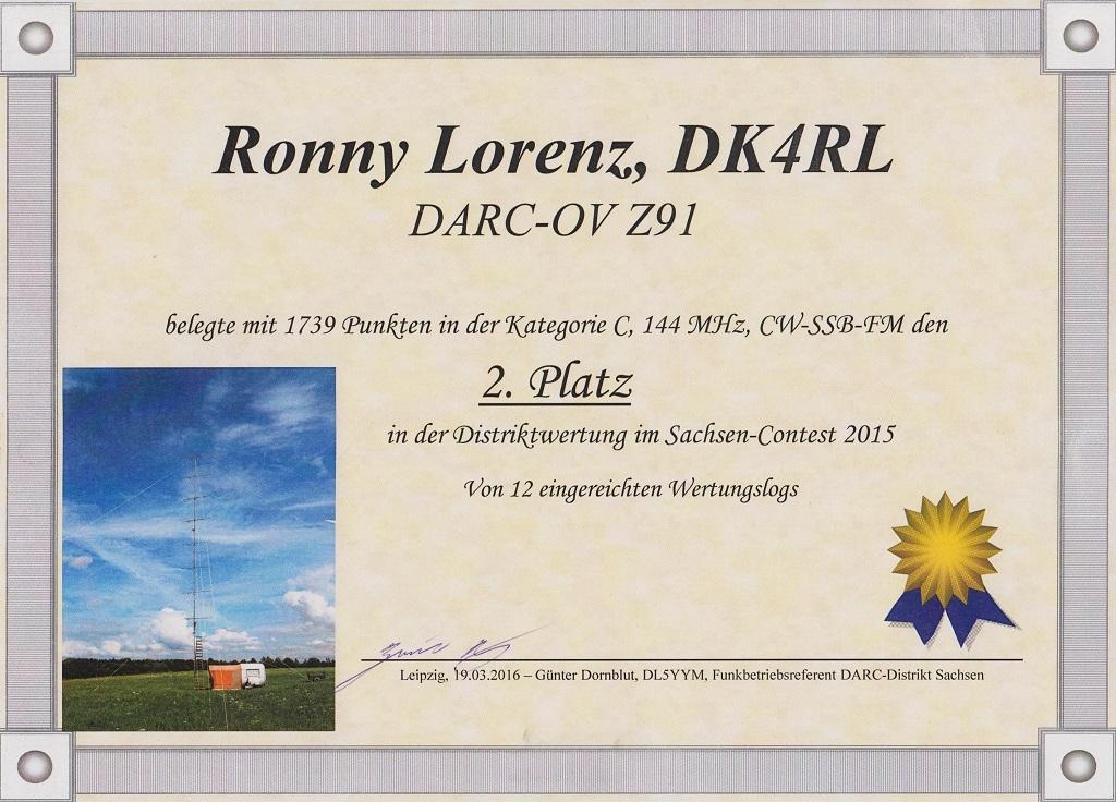 DK4RL-Urkunde HSW 2015