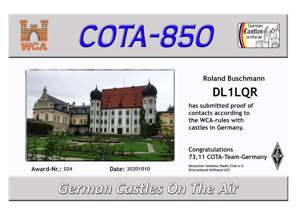 DL1LQR COTA 850